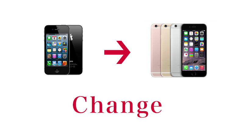 やっとiPhone 6Sに変更しました。