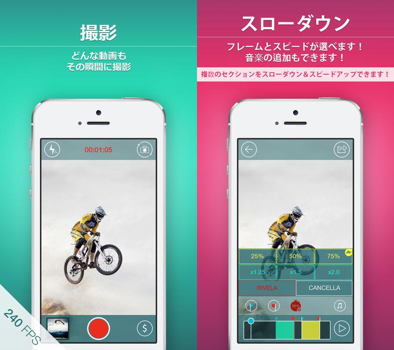 ビデオの一部をスローモーションにできるアプリ。